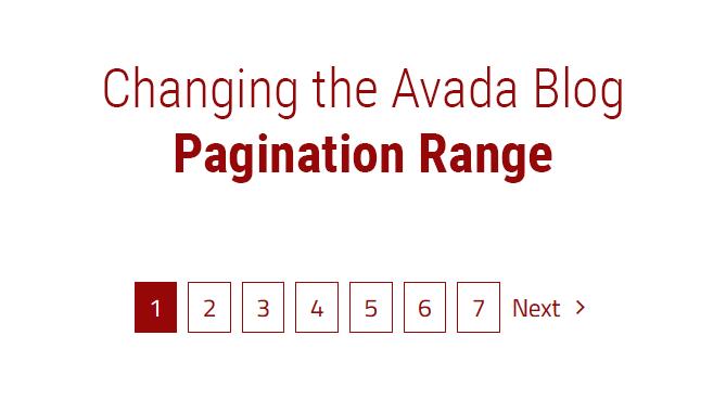 Avada Pagination Range
