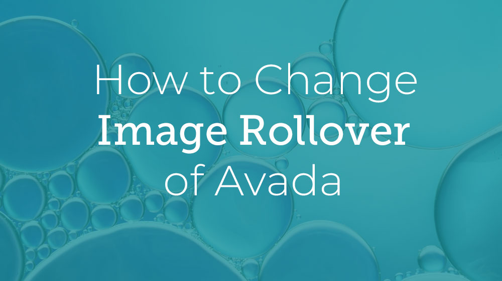 Avada Image Rollover