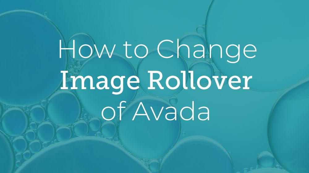 Avada Image Rollover
